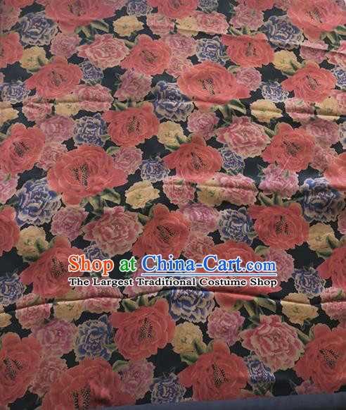 Asian Chinese Traditional Fabric Palace Rose Pattern Brocade Cloth Silk Fabric