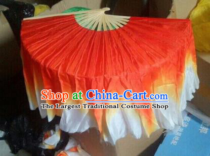 Traditional Chinese Crafts Folding Fan China Folk Dance Fans Red Silk Fans