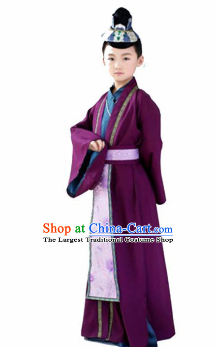 Chinese Tang Dynasty Swordsman Costume Ancient Imperial Bodyguard Hanfu Dress for Kids