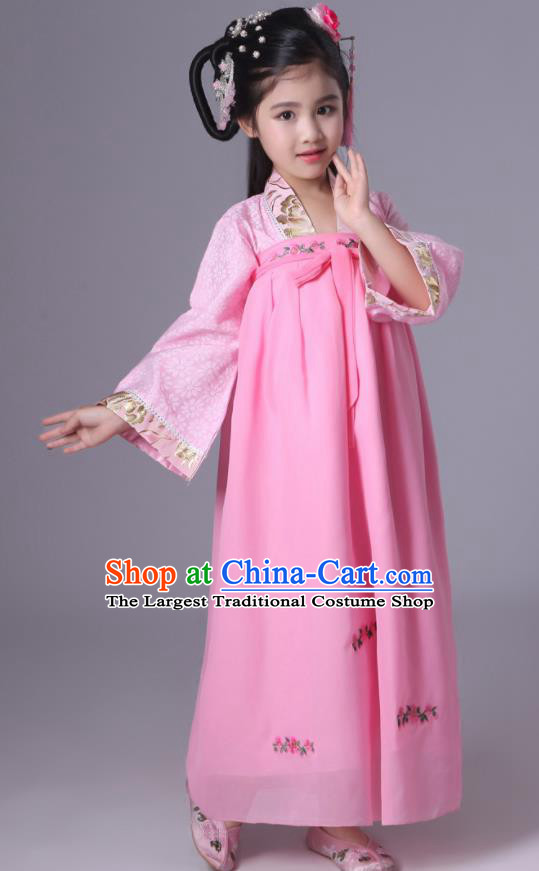 Chinese Tang Dynasty Princess Costume Ancient Court Maid Hanfu Dress for Kids