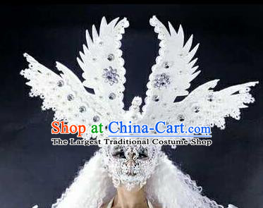 Professional Stage Performance Hair Accessories Brazilian Carnival Angel Mask for Women