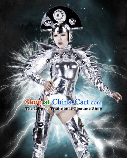Professional Stage Performance Costume Halloween Cosplay Alien Clothing and Headwear for Women