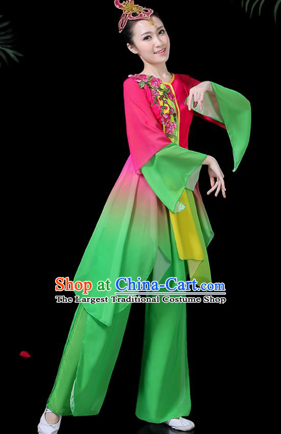 Traditional Fan Dance Dress Chinese Classical Dance Umbrella Dance Costume for Women