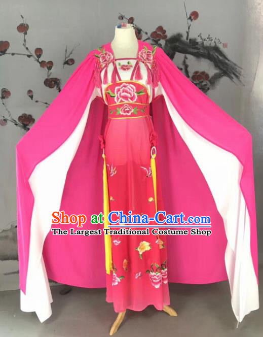 Chinese Traditional Beijing Opera Actress Dress Peking Opera Costume with Cloak for Adults