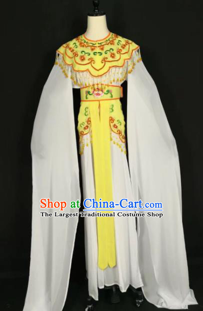 Chinese Traditional Beijing Opera Princess Yellow Dress Peking Opera Actress Costume for Adults
