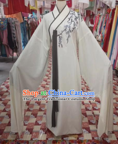 Chinese Traditional Beijing Opera Niche White Costume Peking Opera Scholar Clothing for Adults