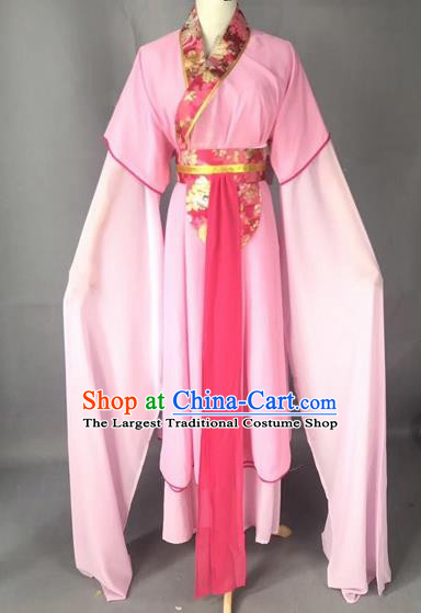 Chinese Traditional Beijing Opera Maidservants Pink Dress Peking Opera Diva Costumes for Adults