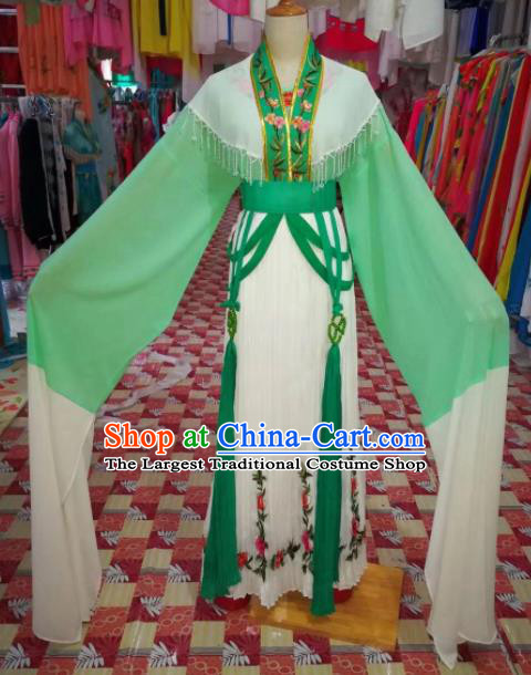 Chinese Traditional Beijing Opera Princess Green Hanfu Dress Peking Opera Diva Costume for Adults