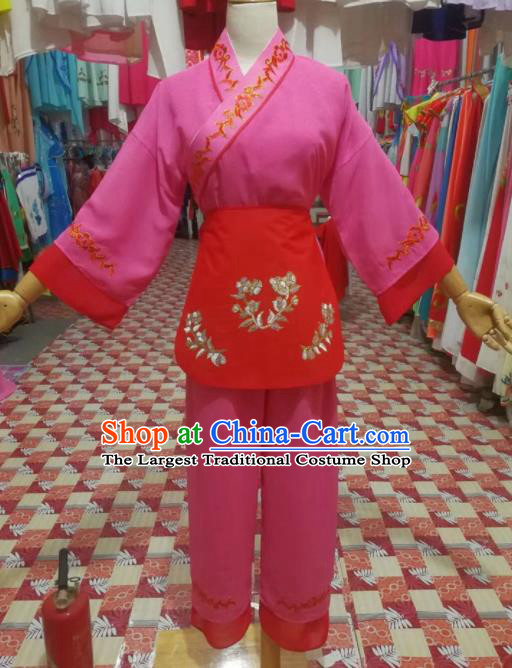 Chinese Traditional Beijing Opera Mui Tsai Embroidered Clothing Peking Opera Actress Costume for Poor Girls