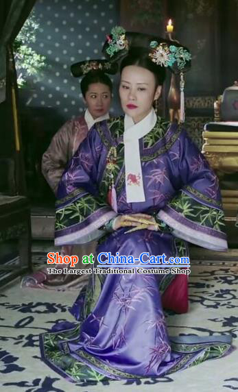 Drama Ruyi Royal Love in the Palace Chinese Ancient Qing Dynasty Empress Dowager Costumes and Headpiece Complete Set