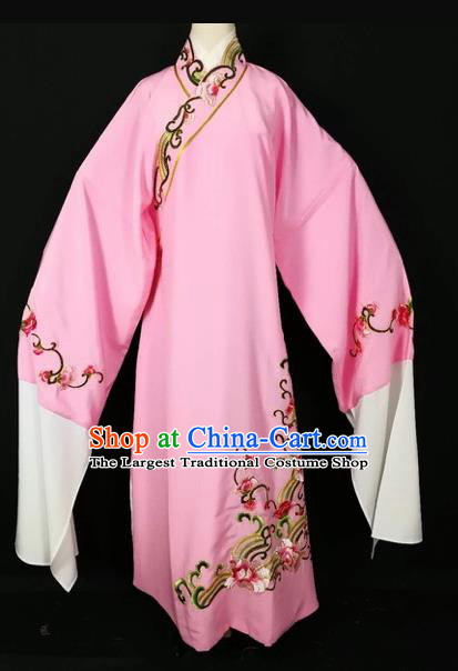 Chinese Traditional Beijing Opera Scholar Pink Robe Peking Opera Niche Costume for Adults