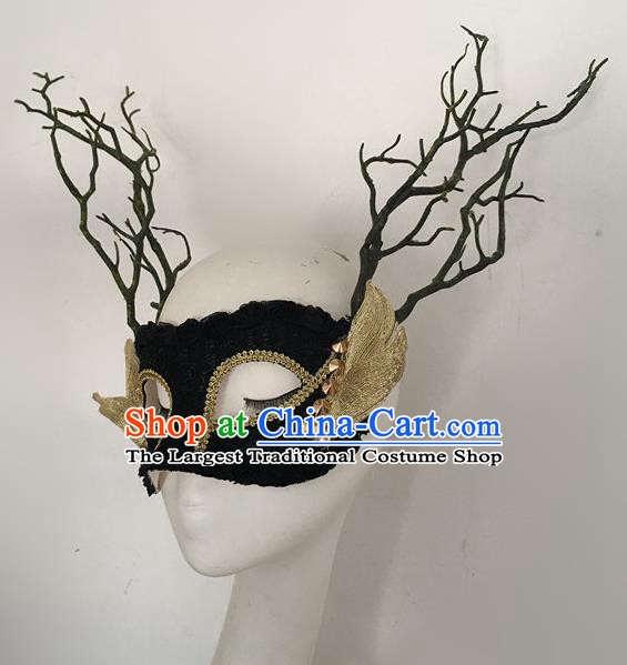 Top Halloween Stage Show Accessories Branch Mask Brazilian Carnival Catwalks Face Masks