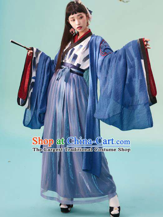 Chinese Jin Dynasty Nobility Women Hanfu Dress Ancient Princess Costumes Complete Set