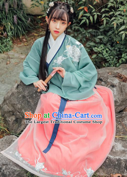 Traditional Chinese Ming Dynasty Nobility Lady Historical Costumes Ancient Princess Hanfu Dress for Women