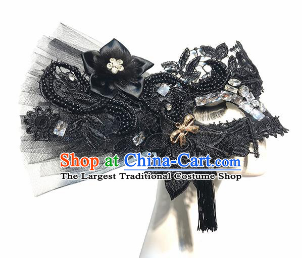 Top Halloween Cosplay Black Lace Masks Brazilian Carnival Catwalks Fancy Dress Ball Face Mask for Women