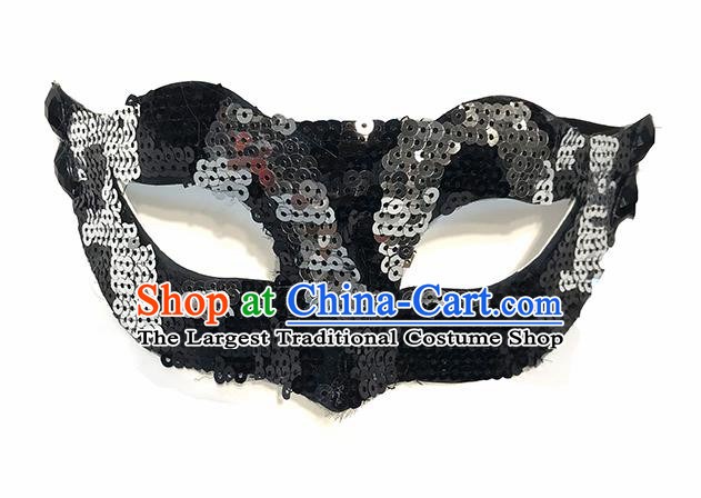 Top Halloween Cosplay Masks Brazilian Carnival Catwalks Fancy Dress Ball Sequins Face Mask for Men