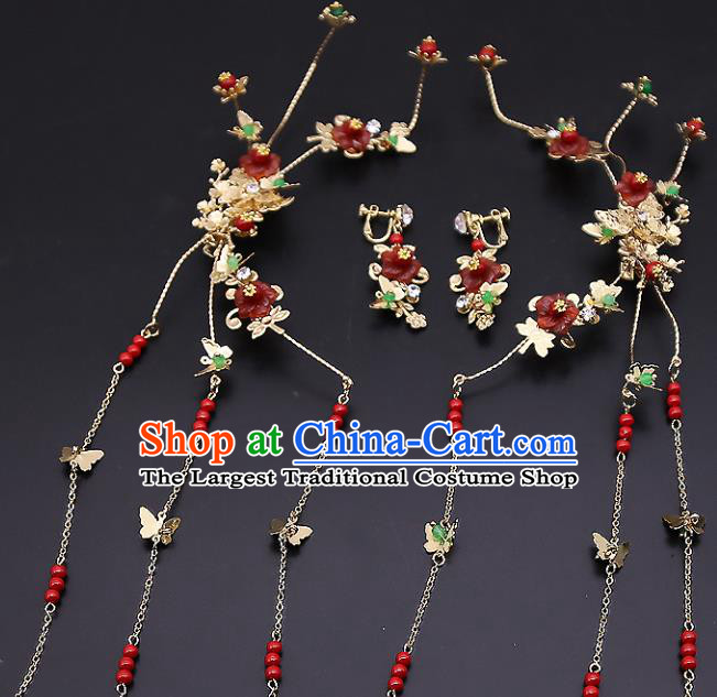Top Chinese Traditional Hair Accessories Ancient Classical Tassel Hair Sticks Palace Hairpins for Women