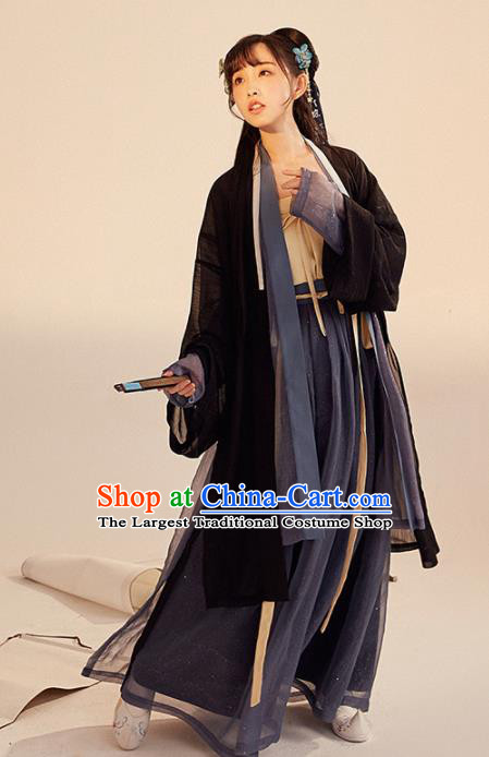 Chinese Ancient Drama Swordswoman Hanfu Clothing Traditional Song Dynasty Young Lady Replica Costumes for Women
