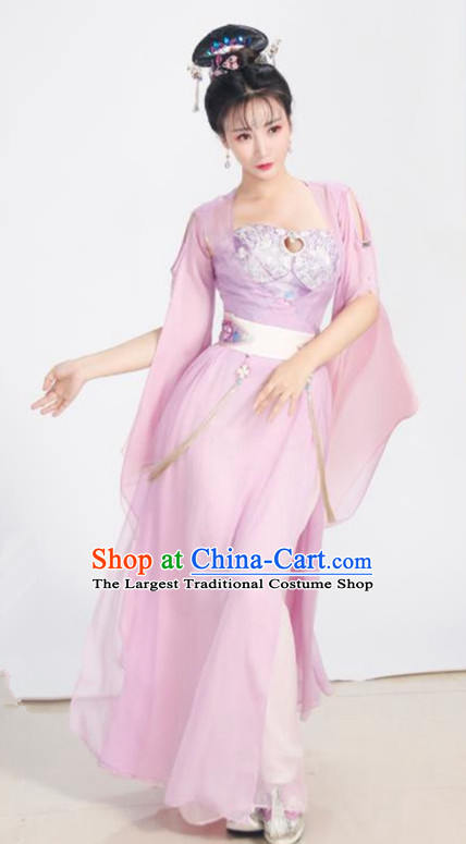 Chinese Ancient Drama Goddess Peri Pink Hanfu Dress Traditional Ming Dynasty Imperial Consort Replica Costumes for Women