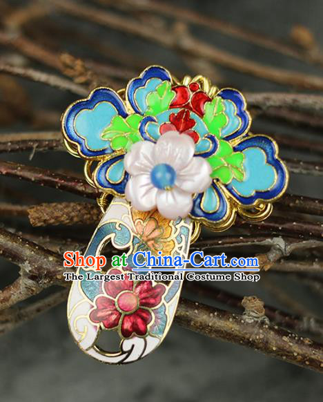 Chinese Traditional Cloisonne Brooch Traditional Classical Hanfu Jewelry Accessories for Women