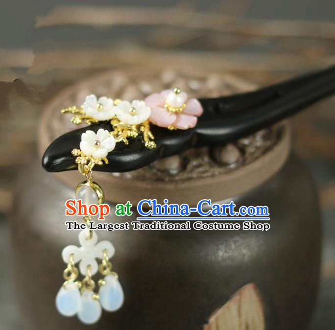Handmade Chinese Traditional Ebony Hairpins Traditional Classical Hanfu Hair Accessories for Women
