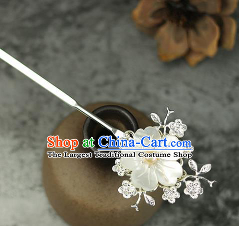 Handmade Chinese Traditional Shell Flower Hairpins Traditional Classical Hanfu Hair Accessories for Women