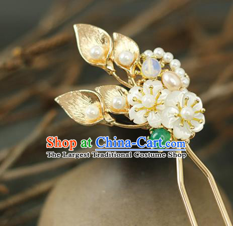 Handmade Chinese Traditional Pearls Hairpins Traditional Classical Hanfu Hair Accessories for Women
