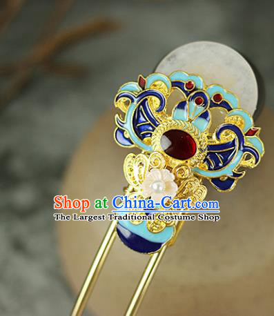 Handmade Chinese Traditional Cloisonne Peony Hairpins Traditional Classical Hanfu Hair Accessories for Women