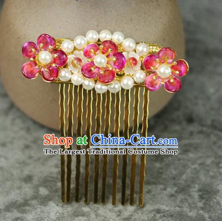 Handmade Chinese Traditional Pearls Hair Combs Traditional Classical Hanfu Hair Accessories for Women