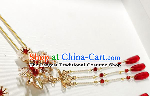 Handmade Chinese Traditional Tassel Hairpins Ancient Classical Hanfu Hair Accessories for Women