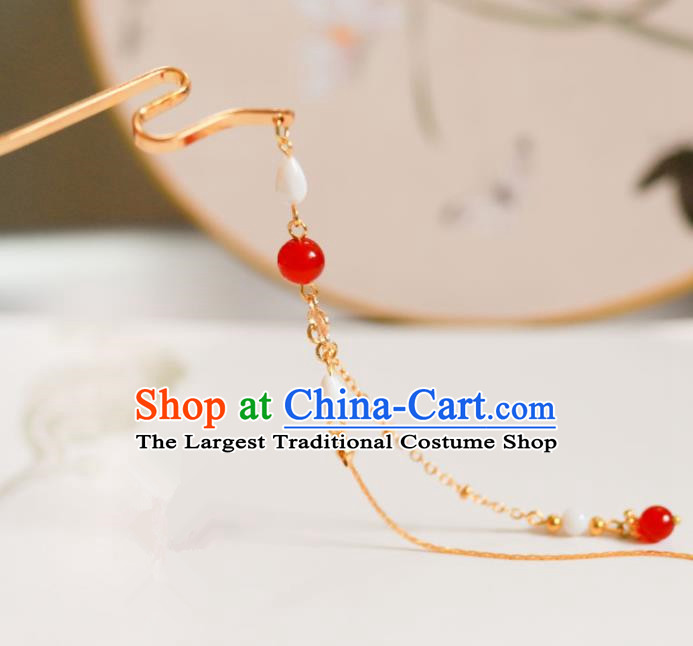 Handmade Chinese Traditional Tassel Step Shake Hairpins Ancient Classical Hanfu Hair Accessories for Women
