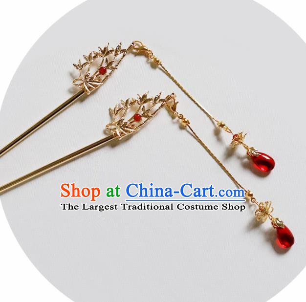 Handmade Chinese Traditional Bamboo Hair Clips Hairpins Ancient Classical Hanfu Hair Accessories for Women