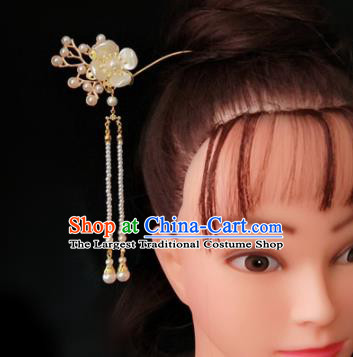 Chinese Ancient Traditional Hanfu Tassel Step Shake Hairpins Handmade Classical Hair Accessories for Women