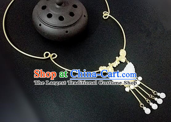 Chinese Traditional Hanfu Jade Necklace Traditional Classical Jewelry Accessories for Women