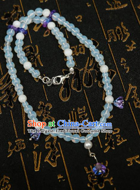 Chinese Traditional Hanfu Beads Necklace Traditional Classical Jewelry Accessories for Women