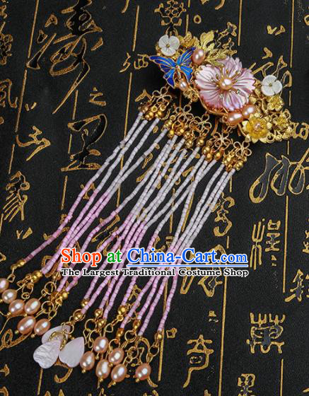 Chinese Ancient Traditional Hanfu Tassel Hair Stick Hairpins Handmade Classical Hair Accessories for Women