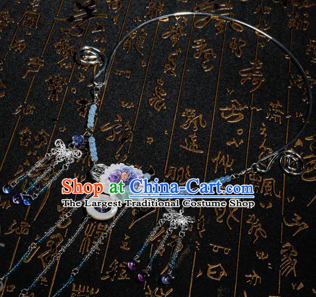 Chinese Traditional Hanfu Tassel Necklace Traditional Classical Jewelry Accessories for Women