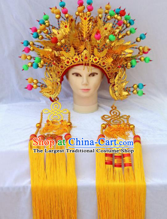Traditional Chinese Beijing Opera Princess Hats Peking Opera Diva Colorful Phoenix Coronet for Women