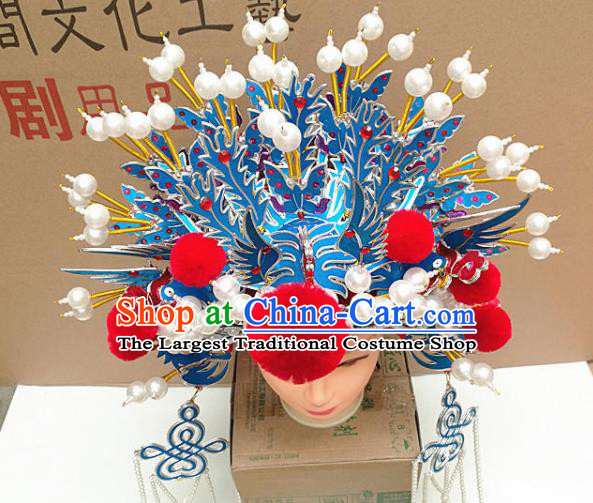 Chinese Traditional Peking Opera Actress Bride Phoenix Coronet Beijing Opera Princess Chaplet Hats for Women