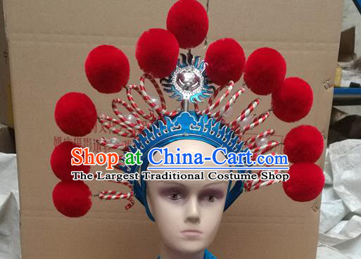Chinese Traditional Peking Opera Female General Phoenix Coronet Beijing Opera Diva Chaplet Hats for Women
