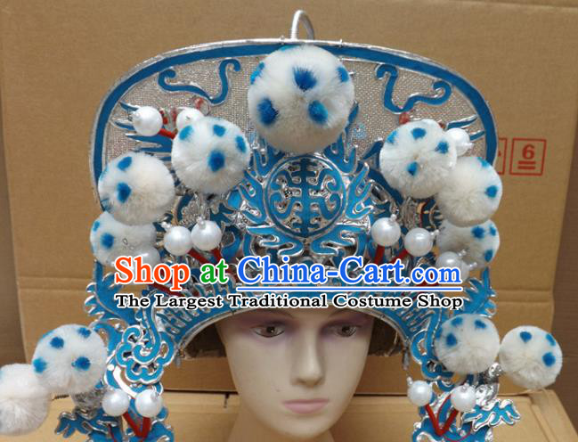 Chinese Traditional Peking Opera Phoenix Coronet Beijing Opera Helmet Headwear for Women