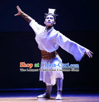 Chinese Traditional Classical Dance Costumes Drama Performance Li Bai Hanfu Clothing for Men