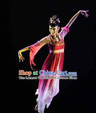Chinese Traditional Classical Dance Group Dance Costumes Stage Performance Hanfu Dress for Women