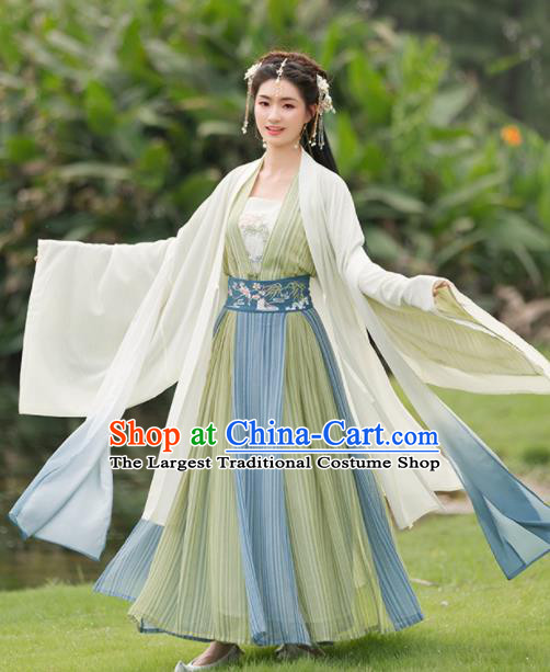 Chinese Ancient Tang Dynasty Nobility Lady Historical Costumes Traditional Princess Hanfu Dress for Women