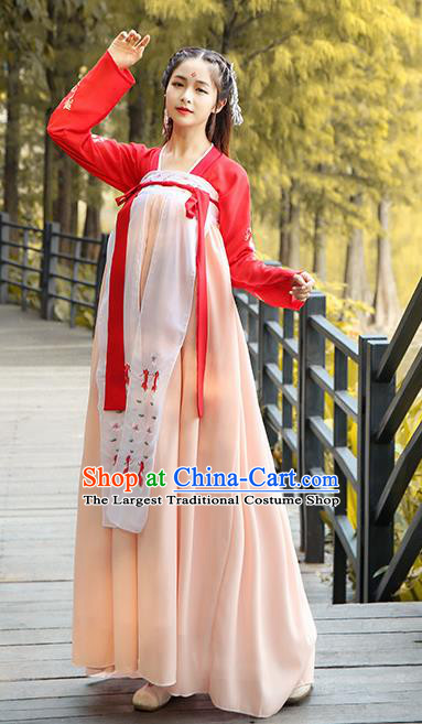Chinese Ancient Female Historical Costumes Traditional Tang Dynasty Palace Hanfu Dress for Women