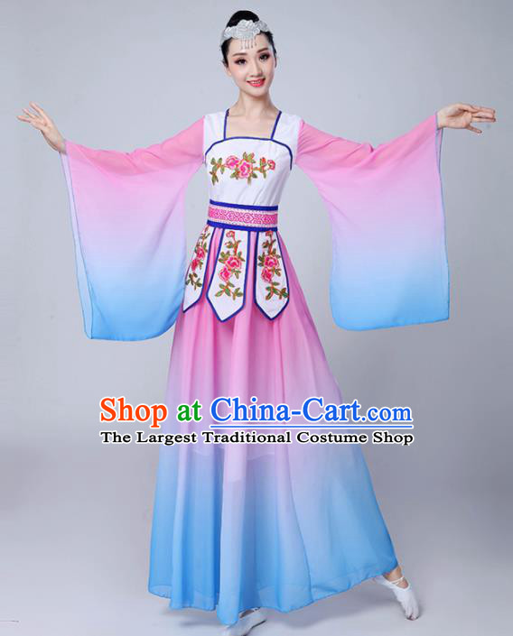 Chinese Traditional Classical Dance Costumes Stage Performance Dance Pink Dress for Women
