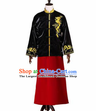 Chinese Traditional Wedding Costumes Ancient Bridegroom Tang Suit Mandarin Jacket Long Robe for Men