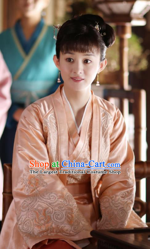 The Story of MingLan Chinese Ancient Drama Song Dynasty Nobility Lady Embroidered Historical Costumes for Women