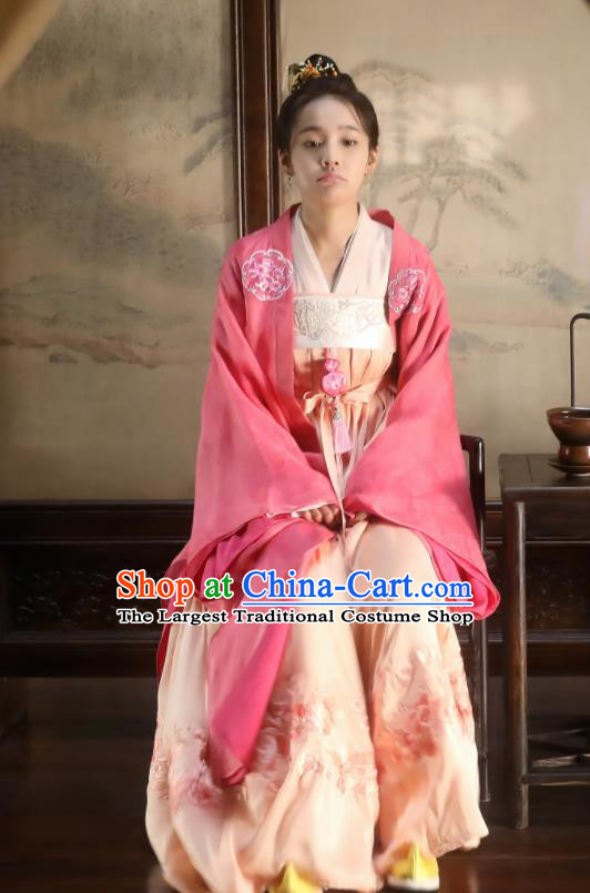 Drama The Story of MingLan Chinese Ancient Song Dynasty Aristocratic Lady Embroidered Historical Costumes for Women