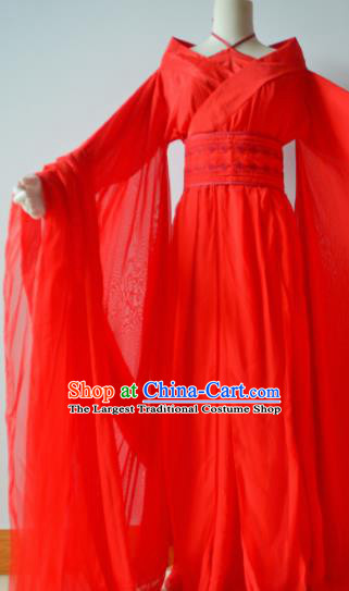 Traditional Chinese Tang Dynasty Wedding Costumes Ancient Cosplay Imperial Concubine Red Hanfu Dress for Women